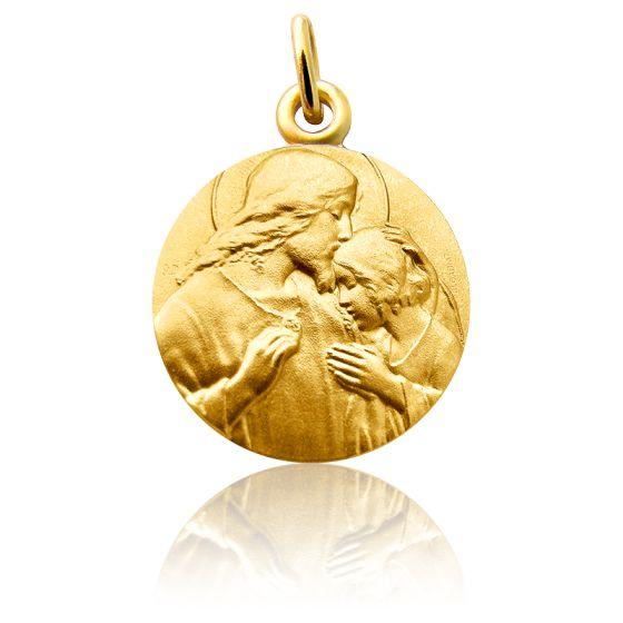 Médaille Communion, Or jaune 18 carats - Martineau