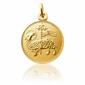 Médaille Agnus Dei, Or jaune 18 carats - Martineau