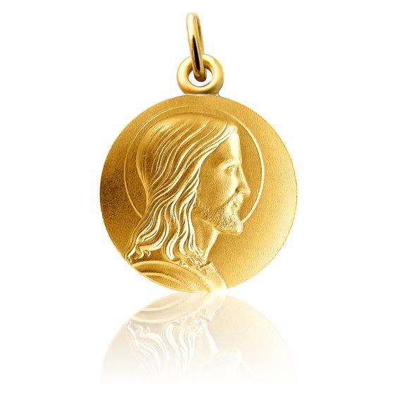 Médaille Jésus de profil, Or jaune 18 carats - Martineau