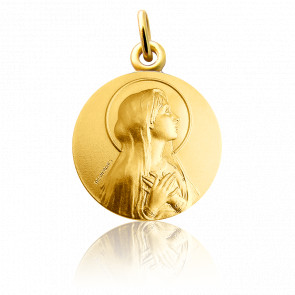 Médaille Virgo Maria, Or jaune 18K - Martineau
