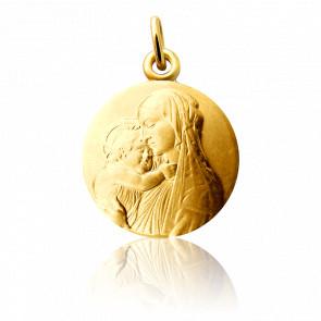 Médaille Vierge à l'Enfant Botticelli,  Or jaune 18K - Martineau