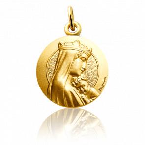 Médaille Notre Dame de la sagesse, Or jaune 18K - Martineau