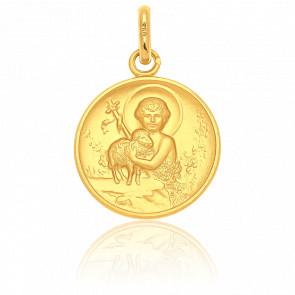 Médaille Saint Jean-Baptiste, Or jaune 18K - Pichard-Balme