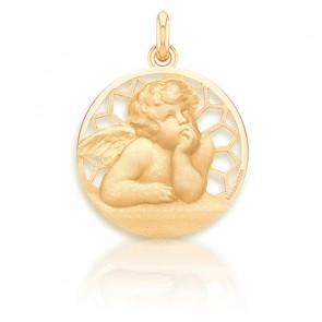 Médaille Ange Raphaël ajourée, Or jaune 18 carats - Becker
