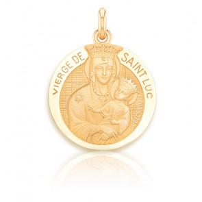 Médaille Vierge à l'Enfant de Saint Luc, Or jaune 18K - Becker