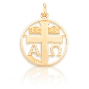Médaille Symbole Croix ajourée, Or jaune 18 carats - Becker