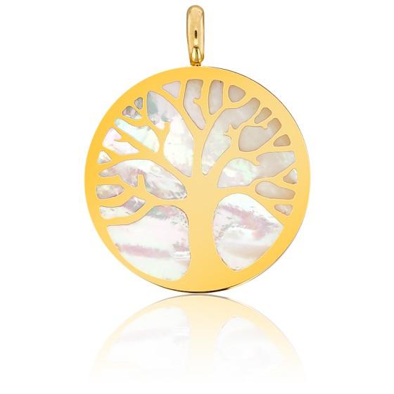 Médaille Arbre de Vie, Nacre & Or Jaune - Vandona