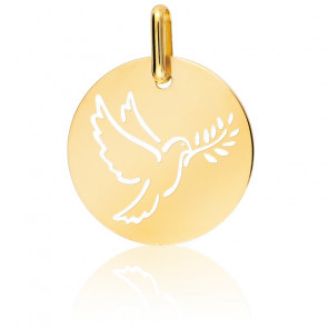 Médaille colombe ajourée, Or jaune 9 ou 18K - Lucas Lucor