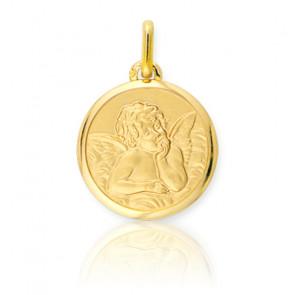 Médaille Ange Raphaël, Or jaune 9 ou 18 carats - Lucas Lucor