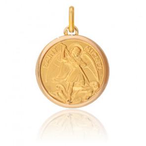 Médaille Saint Michel, Or jaune 9 ou 18 carats - Lucas Lucor