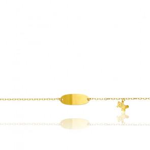 Gourmette bébé nounours, Or jaune 18 carats - Bambins