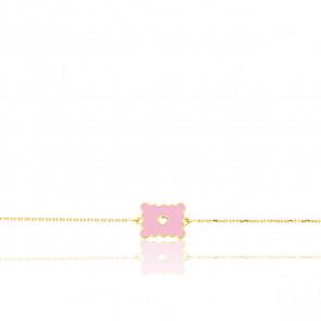 Bracelet Biscuit Cœur ajouré, Or jaune 9 carats - Bambins