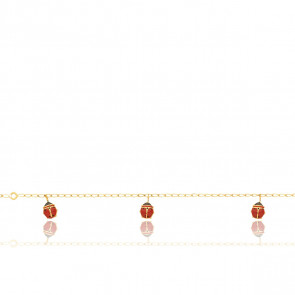 Bracelet Coccinelles, Or jaune 9 carats - Bambins