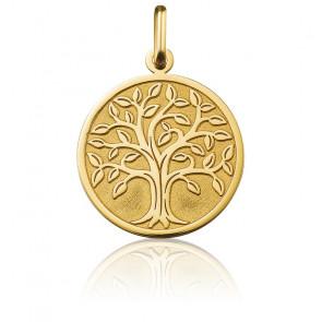 Médaille Arbre de Vie bord poli, Or jaune 18K - Argyor