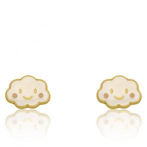 Boucles d'oreilles Nuage, Or jaune 9 carats - Bambins