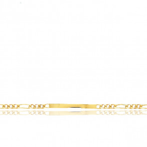 Gourmette  Maille Cheval Alterné 1-3, Or Jaune 18K, 18 cm - Emanessence