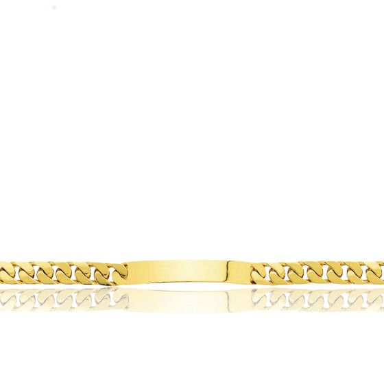 Gourmette Maille Gourmette, Or Jaune 18K, 21 cm - Emanessence