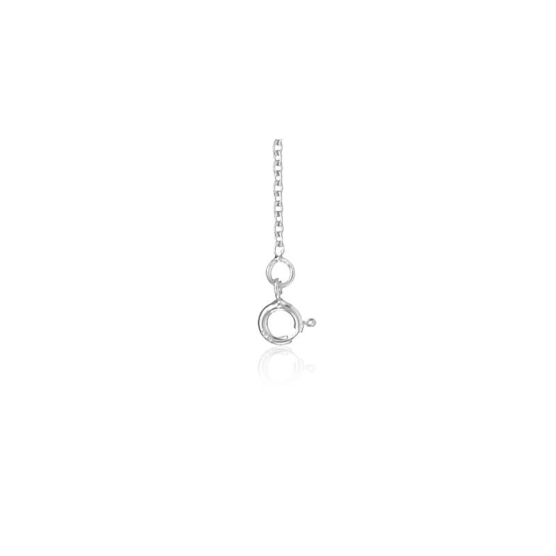 chaine maille forcat or blanc 18 carats 60 cm