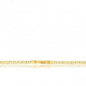 Gourmette Maille Marine, Or Jaune 18K, 22 cm - Emanessence
