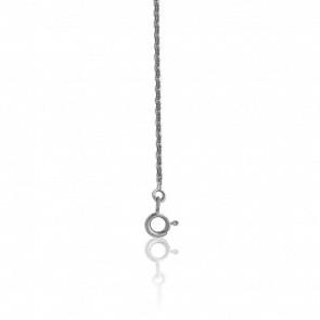 Chaîne maille forçat diamantée, Argent, 40 cm