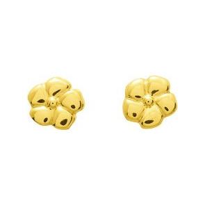 Boucles d'oreilles Fleurs, Or jaune 18K - Emanessence