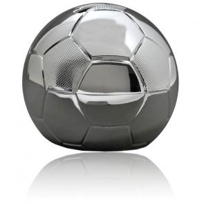 Tirelire Ballon Football, Métal argenté - Daniel Crégut