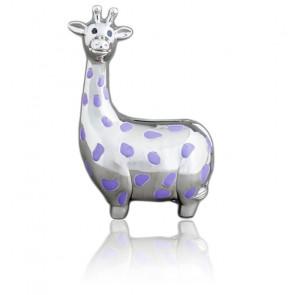 Tirelire Girafe tachetée, Métal argenté - Daniel Crégut
