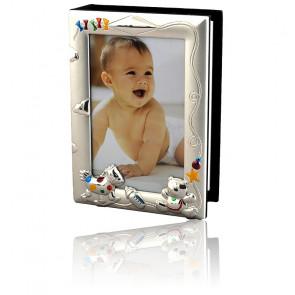 Cadre album photo jouets, Métal argenté - Daniel Crégut