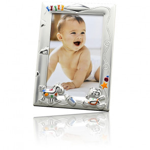 Cadre photo jouet mulitcolore, Métal argenté - Daniel Crégut