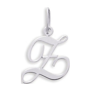 Pendentif lettre Z, Or blanc 9 carats - Emanessence