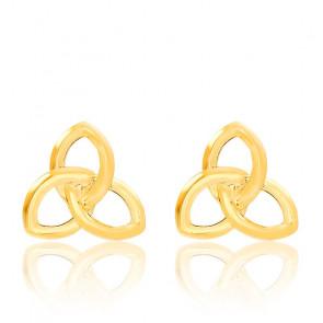 Boucles d'oreilles Triquetra, Or jaune 18K - Emanessence