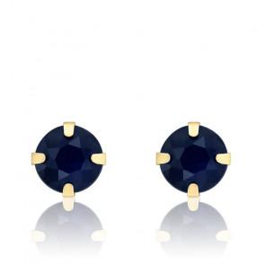 Boucles d'oreilles Saphir et Or jaune 18 carats - Emanessence