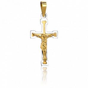 Croix Christ en Relief, 2 Ors 18K - Vandona
