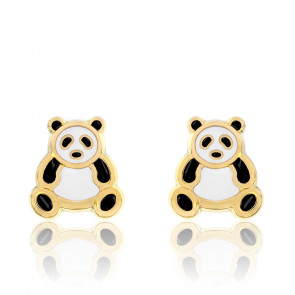 Boucles d'oreilles Panda, Or jaune 18 carats - Emanessence