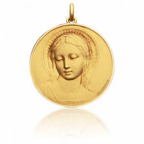Médaille Vierge Amabilis Ronde Or Jaune 18K - Becker