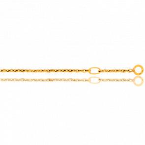 Anneau de réglage chaîne en Or jaune ou blanc 18K