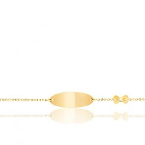 Gourmette Nœud, Or jaune 18 carats - Bambins