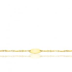 Gourmette bébé grain de riz, Or jaune 18K - Emanessence