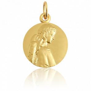 Médaille Ange Apaisé Or Jaune 18K - Martineau