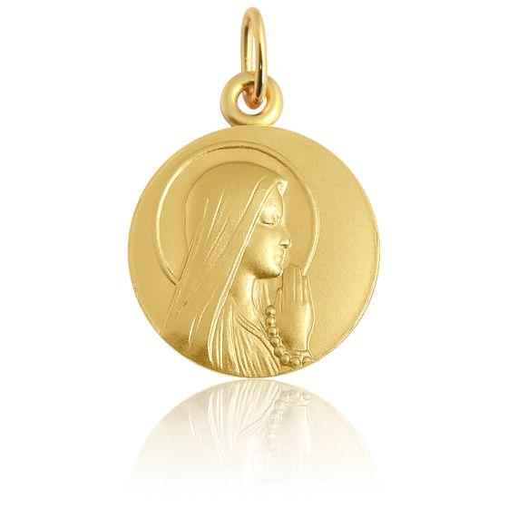 Médaille Ave Maria auréolée, Or jaune 18 carats - Martineau