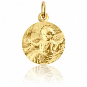 Médaille ronde Enfant Jésus, Or Jaune 18K - Martineau