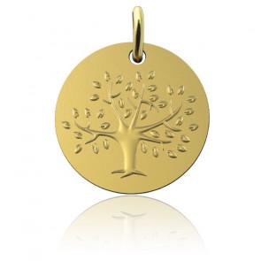 Médaille Arbre de Vie en floraison, Or Jaune 18K - Martineau