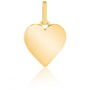 Pendentif coeur plat, Or jaune 9 ou 18 carats - Lucas Lucor