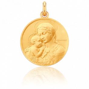 Médaille Vierge de Botticelli, Or Jaune 18K - Becker
