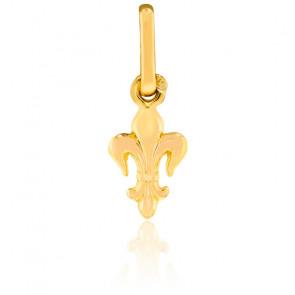 Pendentif petite fleur de lys, Or jaune 9 ou 18 carats - Lucas Lucor