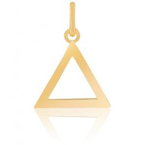 Pendentif triangle ajouré, Or jaune 9 ou 18 carats - Lucas Lucor