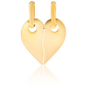 Pendentif petit coeur séparable, Or jaune 9 ou 18 carats - Lucas Lucor