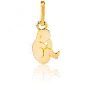 Pendentif bébé nouveau né, Or jaune 9 ou 18 carats - Lucas Lucor