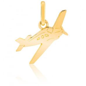 Pendentif Avion, Or jaune 9 ou 18 carats - Lucas Lucor