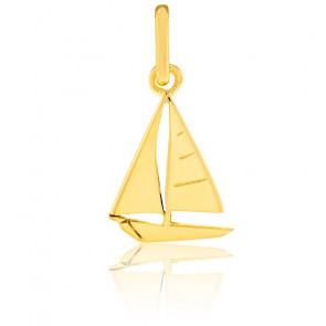 Pendentif voilier, Or jaune 9 ou 18 carats - Lucas Lucor